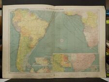 Mercantile Marine Atlas 1914 South Atlantic Ocean R4#63
