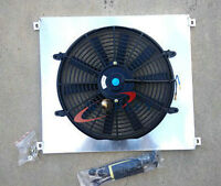 Aluminum Radiator Shroud & Fan For Ford XW XY 302 GS GT 351 Cleveland