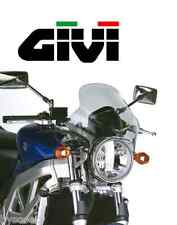 Saute-vent pare-brise universel GIVI 240A bulle 33 x 36,5 moto fixation naked