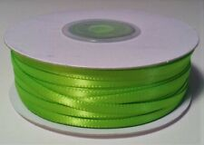 """100yds of Spiced Apple Green 1/8 inch Double Face Satin Ribbon 1/8"""" x 100yds"""