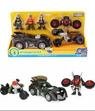 Imaginext DC SUPER FRIENDS GIFT SET Batman Robin Bane Batmobile Batcycle Jetpack
