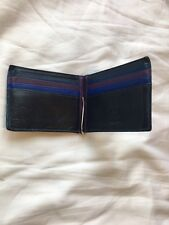 Mywalit Genuine Leather Wallet Blue Purple money clip coin compartment