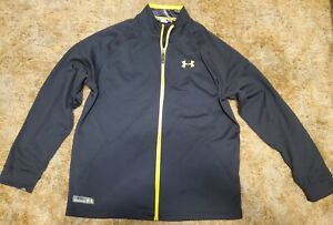 Under Armour Men's Combine Training Track Jacket Size 2XL Black Yellow