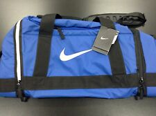 Nike Swoosh Max Air Elite Duffle Travel Basketbal Gym Bag M Blue Black Rare New!