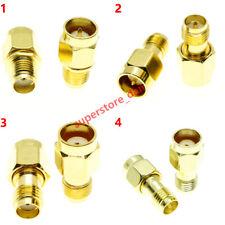 1Pcs Quick SMA male To SMA Female RPSMA MALE no screw push on RF adapter