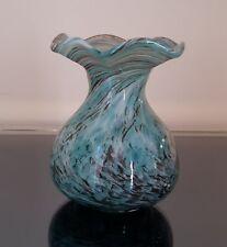 ALWE Regenhütte Glas  Vase signiert 90er Jahre Einzelstück marmoriert