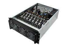 6 or 8 GPU 4U Rackmount Mining Case - Frame Mining Chassis Server Miner ETH