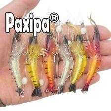 6x Soft Plastics Fishing Lures Tackle Prawn Shrimp Flathead Bream Cod Bass Baits