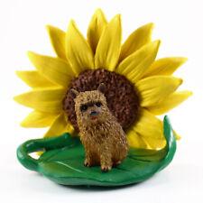 Norwich Terrier Sunflower Figurine