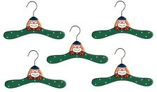 Promo Kidorable Kids Set Of 5 Children's Green Clown Wooden Coat Clothes Hanger