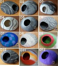 Large Custom Cat Cave 40 cm diameter Choose Design and the Color of your Choice.