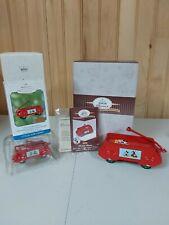 New Listing2 Hallmark Mickey Mouse Streamline Express Coaster Wagons, Kiddie Car & Ornament