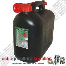 SERBATOIO del carburante può 10l dieci litri NERO IN PLASTICA CONTENITORE D'ACQUA BENZINA DIESEL