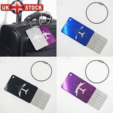 Aluminium Luggage Tags Suitcase Label Name Address ID Baggage Bag Tag Travel H