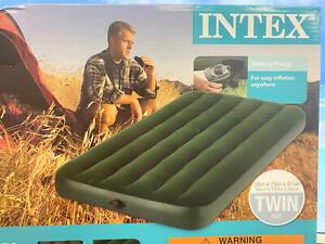 Intex Prestige Downy Airbed Kit w/ Hand Held Battery Pump, Twin~Air Mattress