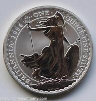 2006 Britannia Royal Mint 1oz Fine Silver £2 Two Pounds Coin