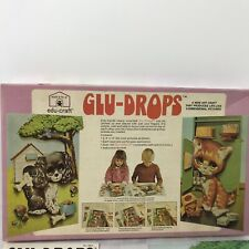 1973 Edu Craft Glu Drops Craft Kit Vintage