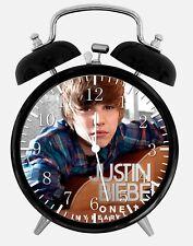 "Justin Bieber Alarm Desk Clock 3.75"" Home or Office Decor Z115 Nice For Gift"