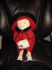 "Eden Christmas Red Coat Madeline Doll 15"" 1994 Soft Cloth"