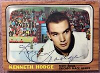 * SIGNED* KEN HODGE 1966-67 TOPPS #114 CHICAGO BLACK HAWKS (2nd card) *NMMT*