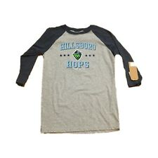 NEW NWT Hillsboro Hops Baseball Men's 3/4 Sleeve Raglan Graphic Shirt Medium