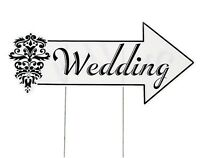 """Wedding Directional Yard Sign 20 1/2"""" x 9 1/2"""" sign on 16"""" metal stakes."""