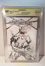 VENOMVERSE #1 BLANK COVER ORIGINAL ART SKETCH BY KERON GRANT CBCS VENOM