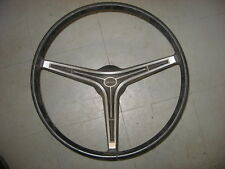 Original STEERING WHEEL off 1968 AMC Javelin, black, 3 spoke with 3 horn buttons