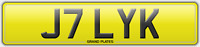 JILLY K NUMBER PLATE J7 LYK REGISTRATION ASSIGNED 4U JILL UK REG NO FEES JILLIAN