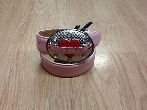 GIRLS Pink LEATHER NOCONA Belt W/BUCKLE CowGirls Rule + FREE SHIPPING