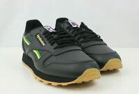 Reebok Mens Shoes Classic International Sports Flag EG6423 Leather Black Sz 11.5