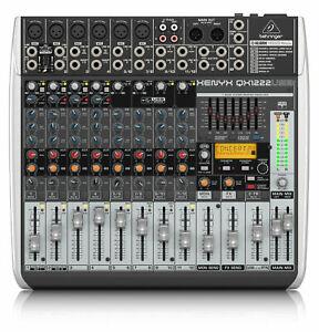 Behringer XENYX QX1222 USB Mischpult 12-Kanal Mixer 6  XLR Mikrofoneingänge 48V