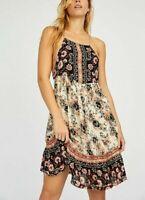 Intimately Free People Casablanca Slip Mini Dress Floral Print Short M NEW 16415