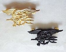 One Pair Style WWII U. S. Navy Seals Special Forces Badge Fine Copper