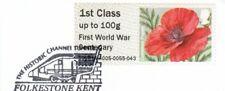 (84235) GB Used Symbolic Flowers Post & Go 2014 ON PIECE