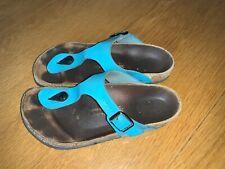 Birkenstock Woman's Blue Birkenstock Sandals Size Uk 3 Eu 36