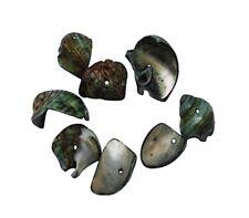 50 g PERLMUTT Muscheln PERLEN Schwarz 80stk NATUR SHELL Beads Schmuck U144