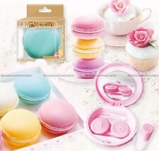 1pc Macarons Contact Lens Travel Kit Case Storage Holder Container Random Color