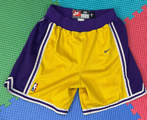 Lakers Kobe Bryant Size 36 Nike Authentic Pro Cut Jersey Shorts Shaquille Oneal