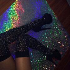 USA  Women Knee Long Boot Fashion Rhinestones Socks Sexy Thigh High Knee Socks