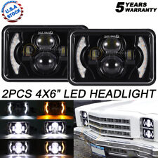"""2x 4x6"""" LED Headlight Projector Beam with DRL For Chevrolet S10 1995 1996 1997"""