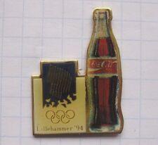 COCA-COLA / OLYMPISCHE SPIELE  / BOTTLE /  LILLEHAMMER   ... Sport Pin (127k)