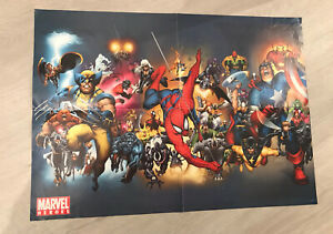 MARVEL COMICS HEROES CHARACTERS A2 WALL POSTER RARE SPIDER-MAN WOLVERINE