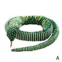 Soft Animal Snake Plush Toy Stuffed Python Halloween Gift Toy Spoof Props C M0G5