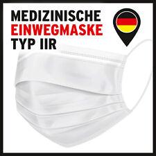 300 / 100 Medizinische OP Maske Typ IIR 2R  Mundschutz 3-lagig Einweg Weiß