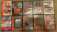 Lot Of 10 Sega Genesis Games F22 Hard Drivin Madden Nfl Indycar & More ~ Tested