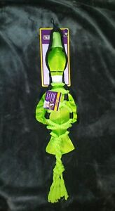 *NEW* Multipet 21' Green Cross Rope Duck Squeaky Rope Toy For Dogs