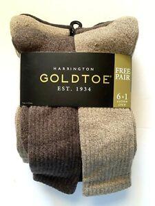 NEW Gold Toe Men Harrington  7 Pairs SZ 6-12 1/5 Improved Aqua Fx