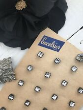 1930s Vintage 24 Jewelled Like Buttons On A Card Dead Stock