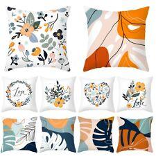 18'' Plant Floral Leaves Cushion Cover Waist Throw Pillow Case Home Sofa Decor